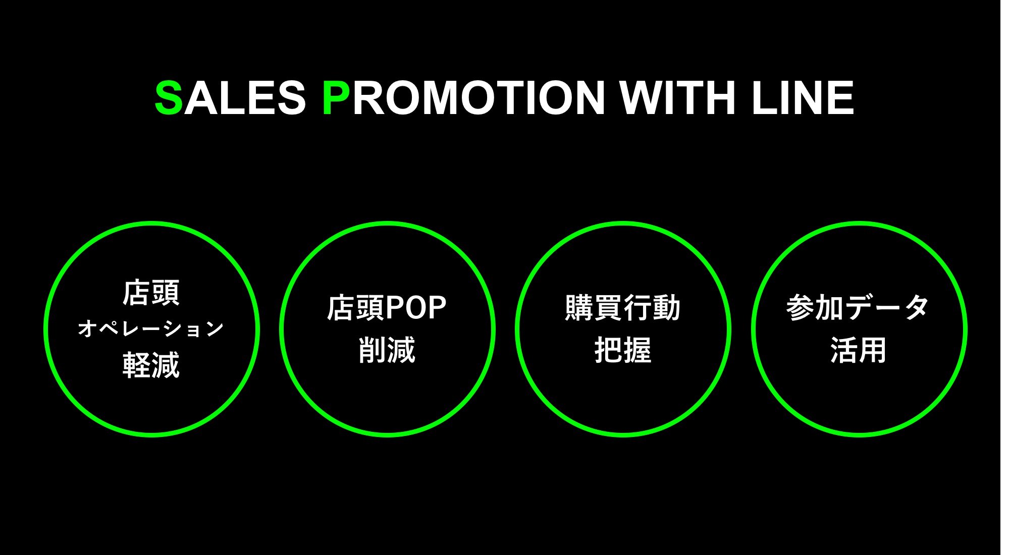 SALES PROMOTINON WITH LINE