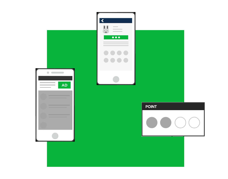 LINE広告に加えてLINEスタンプやLINEポイント併用で大規模なプロモーションを実現